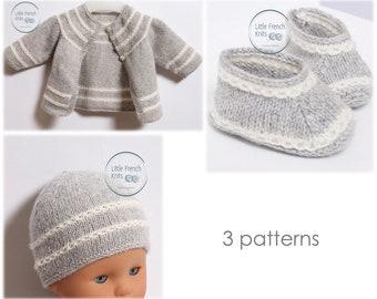 Baby Knitting Patterns Cardigan Sweater Wool English Instructions PDF Sizes Newborn to 12 months