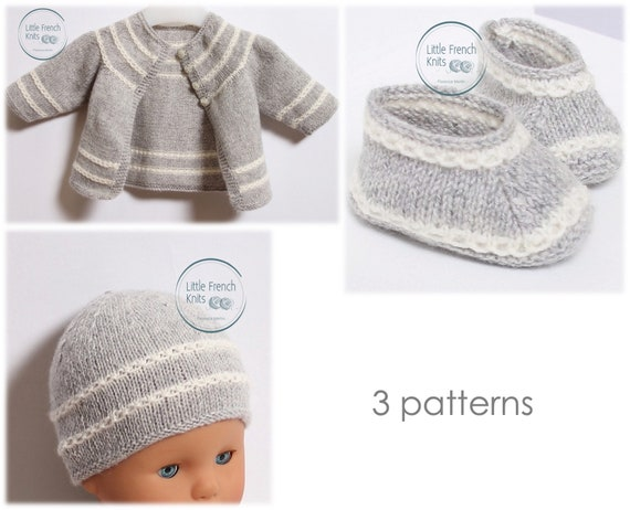Baby Knitting Patterns Cardigan Sweater Wool English Instructions PDF Sizes Newborn to 12 months