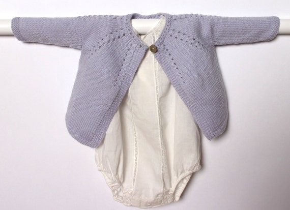 Knitting Pattern Baby Cardigan Instructions in French Instant Digital Download PDF / Sizes Newborn and 3-6 months