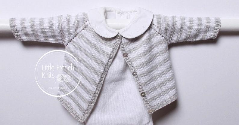 d8efa637c Knitting pattern Striped Cardigan   Instructions in English