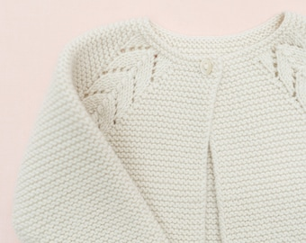 Knitting Pattern Baby Cardigan Sweater Instructions in English PDF Instant Download Sizes Newborn to 4 years