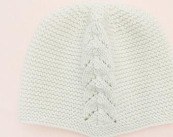 Baby Knitting Pattern Bonnet Hat Wool English Instructions PDF Sizes newborn to 3 years