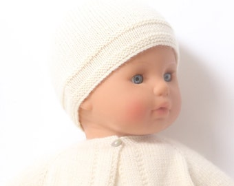 Baby Knitting Pattern Bonnet Hat Wool French Instructions PDF Sizes newborn to 12 months