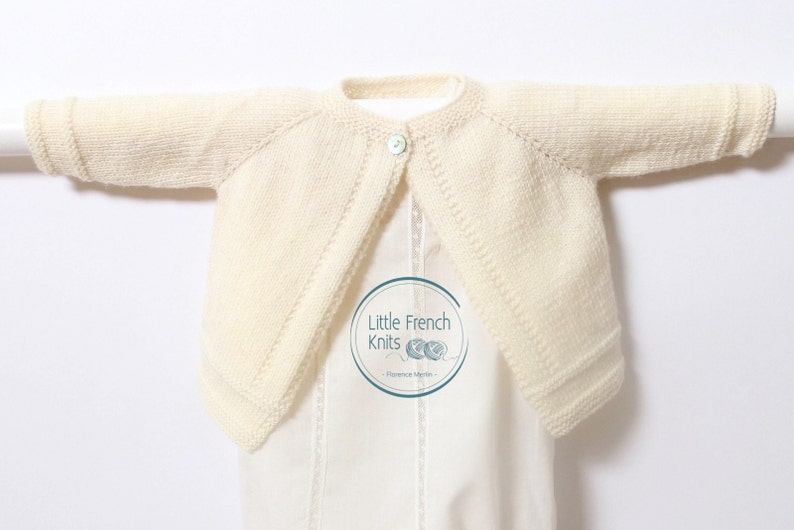 d4fe81877 Knitting Pattern Baby Wool Cardigan Instructions in English