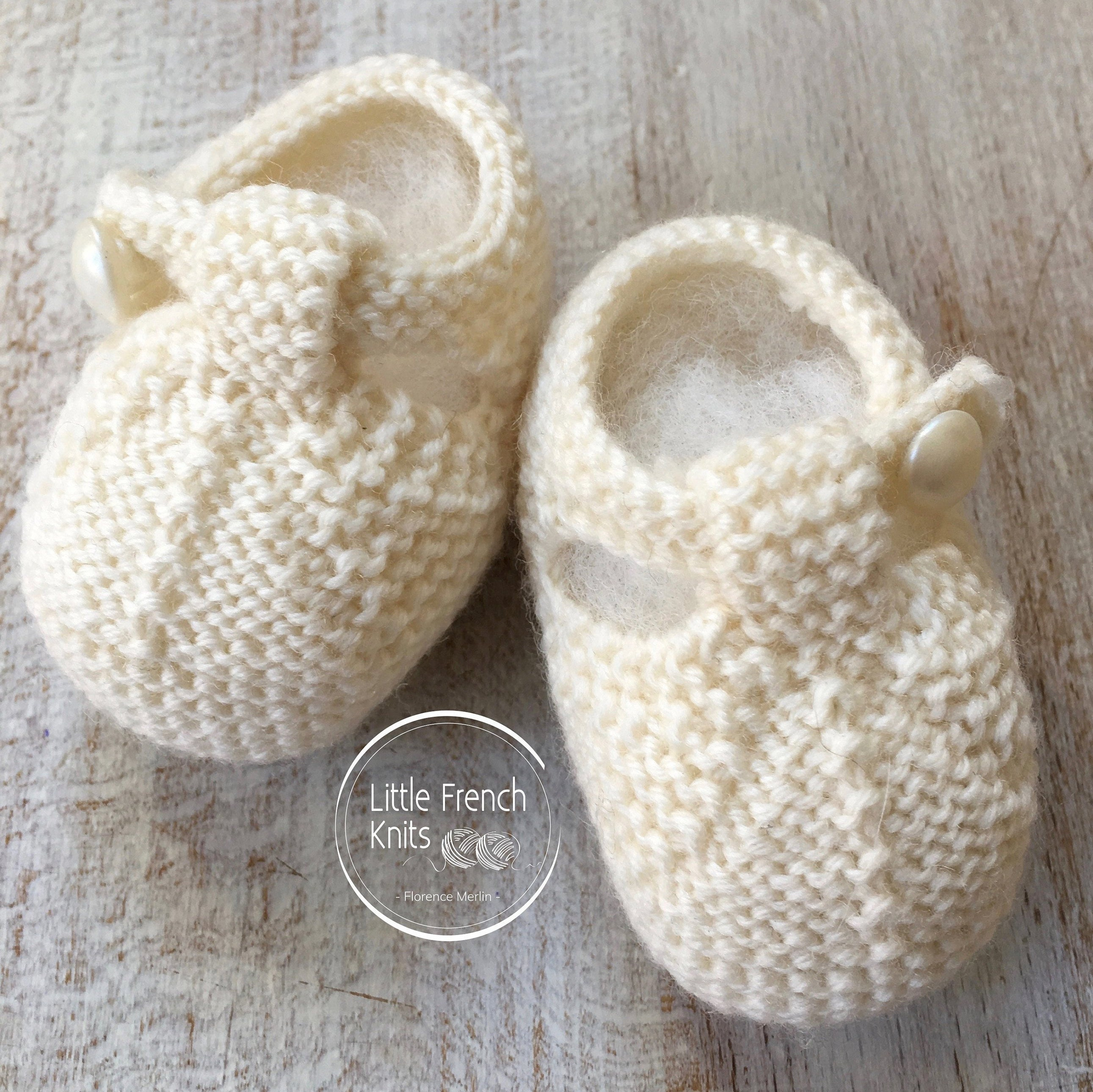 Knitting Pattern Baby Booties Instructions In English Instant Digital