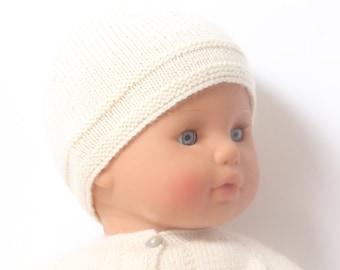 Baby Knitting Pattern Bonnet Hat Wool English Instructions PDF Sizes newborn to 12 months
