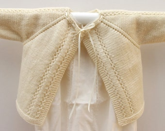 Knitting Pattern Baby Cardigan Sweater Wool English Instructions PDF  Instant download Sizes 6 to 24 months