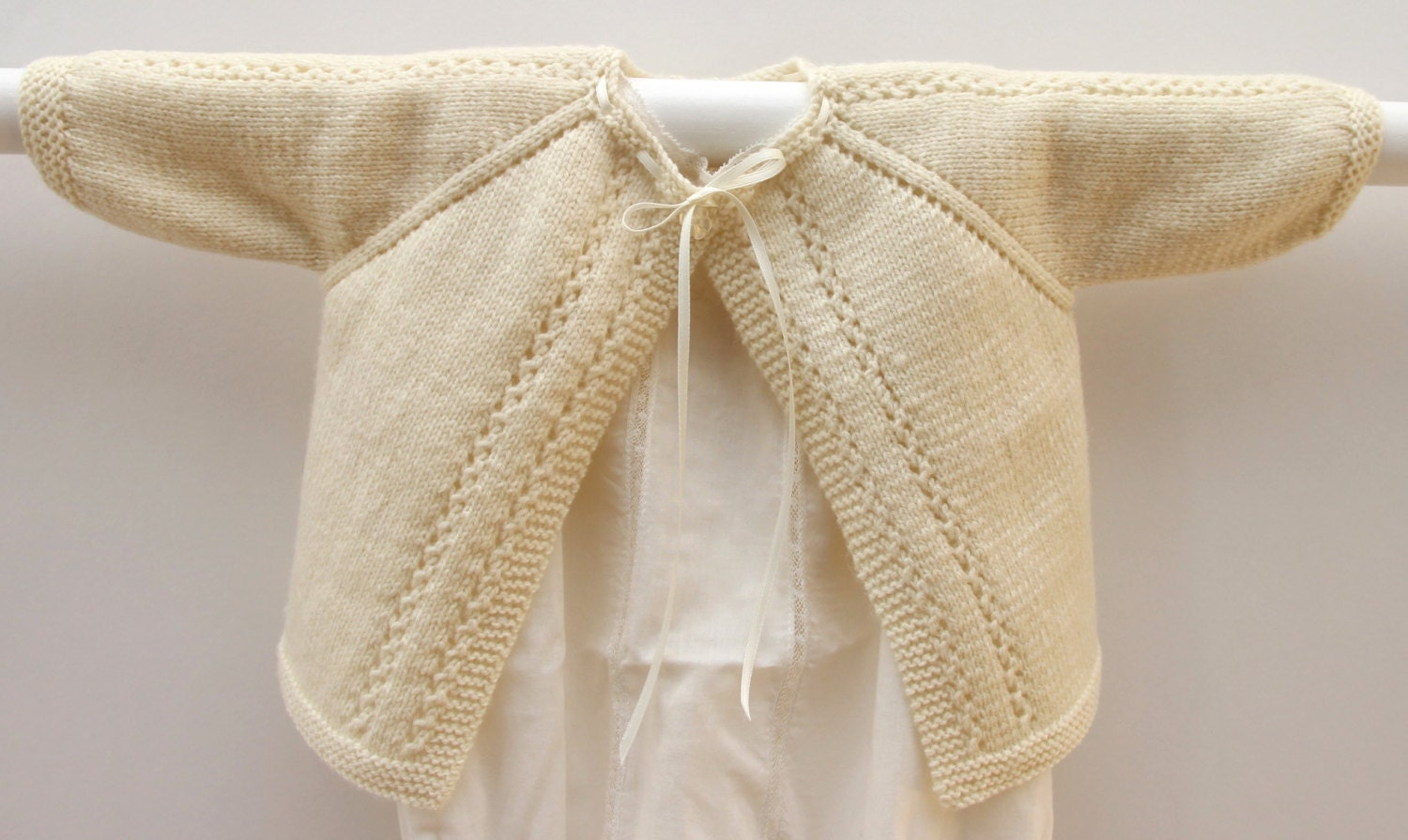 9d02df056 Knitting Pattern Baby Cardigan Sweater Wool English Instructions ...