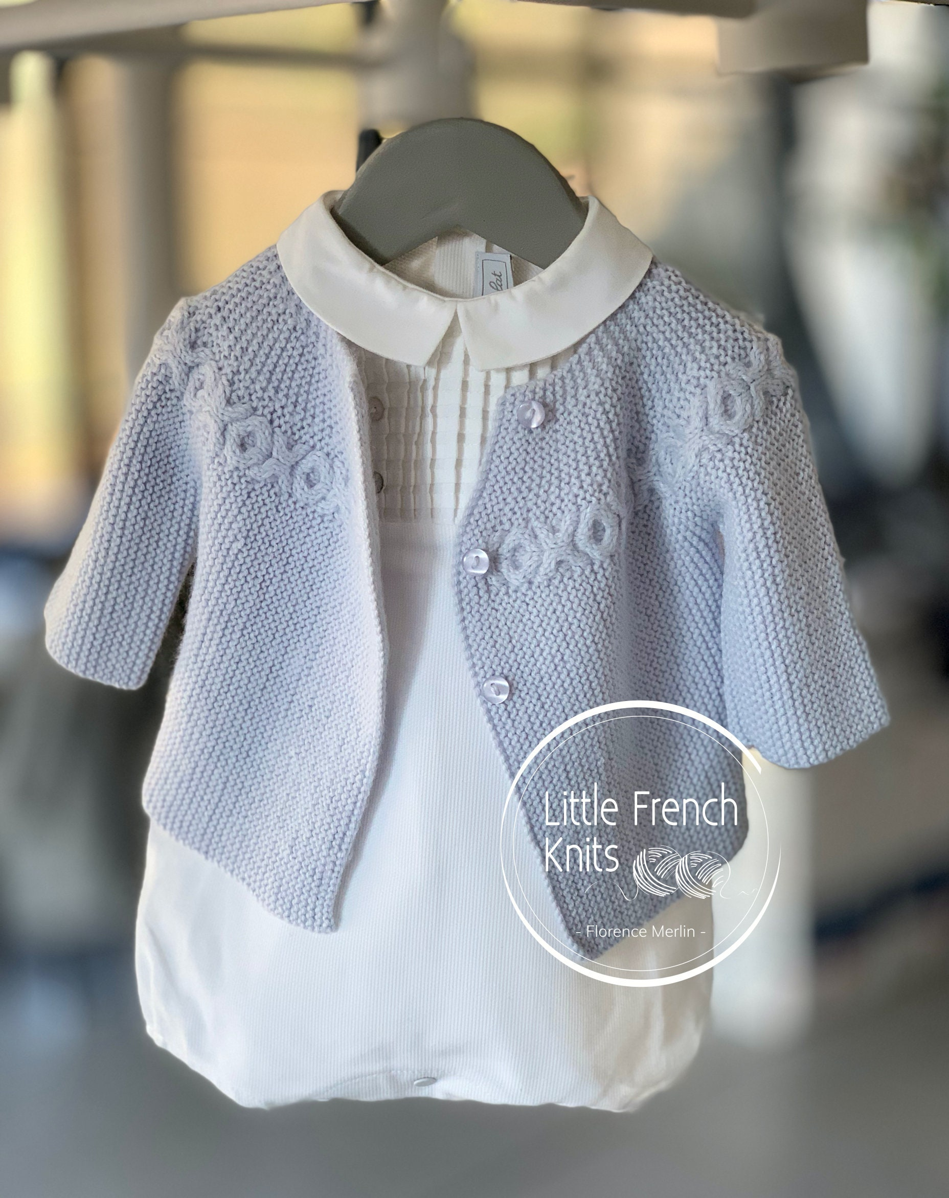 Knitting Pattern Baby Cardigan Sweater Instructions in ...