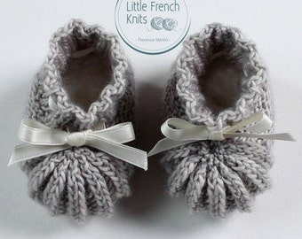 knitting Pattern Baby Booties Instructions in English Instant Digital Download PDF Sizes Newborn to 3 months