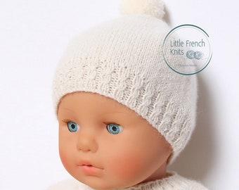 Baby Knitting Pattern Bonnet Hat Wool English Instructions PDF Sizes newborn to 18 months