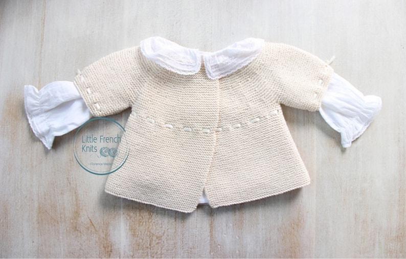 Baby Knitting Pattern Cardigan Sweater Wool English Instructions PDF Sizes newborn to 18 months