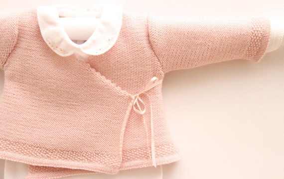 Wrap Cardigan Instructions in French PDF Instant download Sizes Newborn / 6 and 12 months