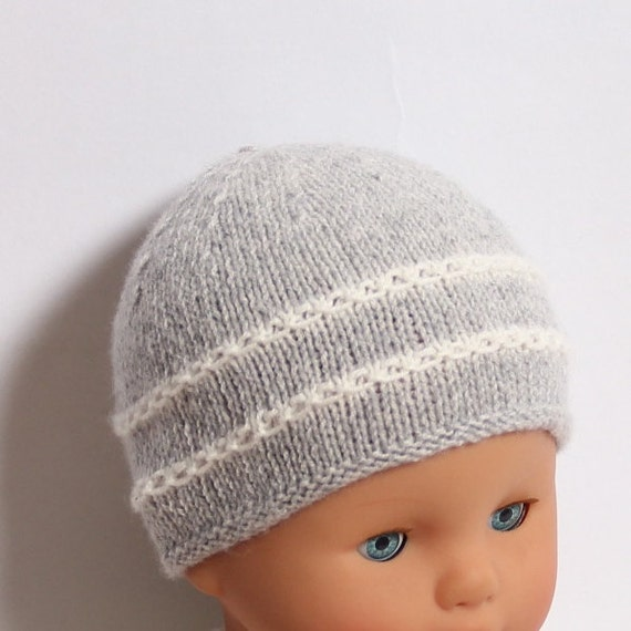 Baby Knitting Pattern Bonnet Hat Wool English Instructions PDF Sizes newborn to 12 months