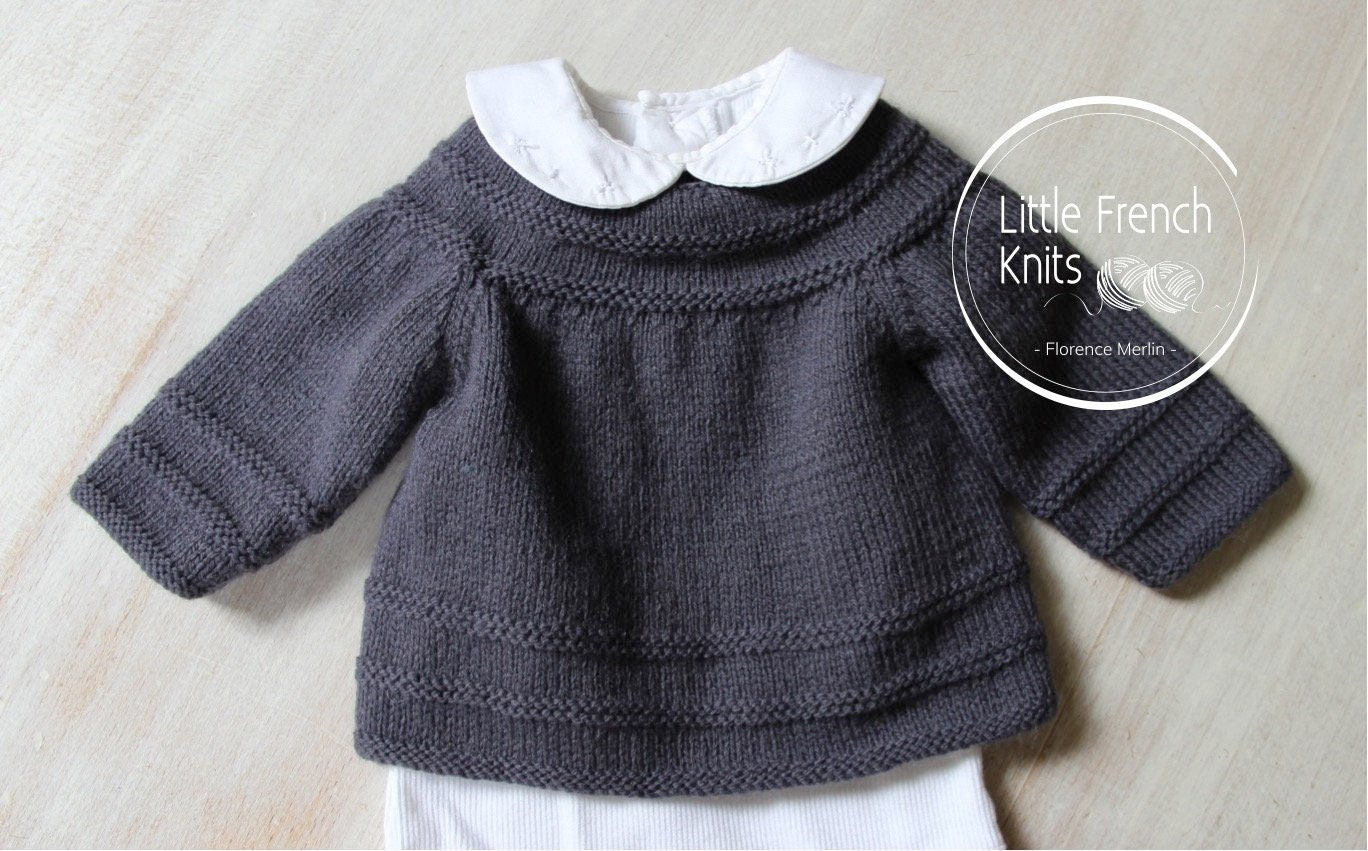 d45bca883 Baby Knitting Pattern Cardigan Sweater Wool French Instructions PDF ...