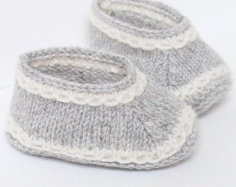 knitting Pattern Baby Booties Instructions in English Instant Digital Download PDF Sizes Newborn to 6 months