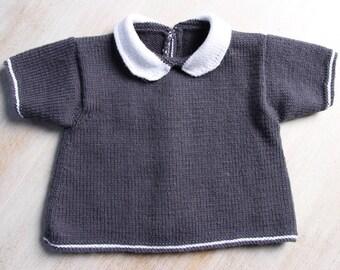 Baby Knitting Pattern Cardigan Sweater Wool English Instructions PDF Size newborn to 18 months