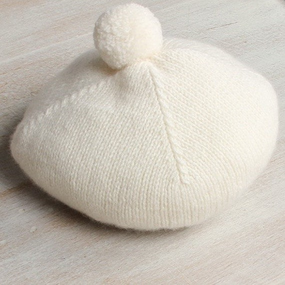 Baby Hat / Knitting Pattern Instructions in French / PDF Instant Download / 4 Sizes : Newborn / 3 / 6 - 9 and 12 - 18 months