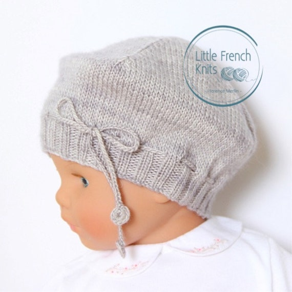 Baby Hat / Knitting Pattern Instructions in English / PDF Instant Download / 4 Sizes : Newborn / 3 / 6 - 9 and 12 - 18 months