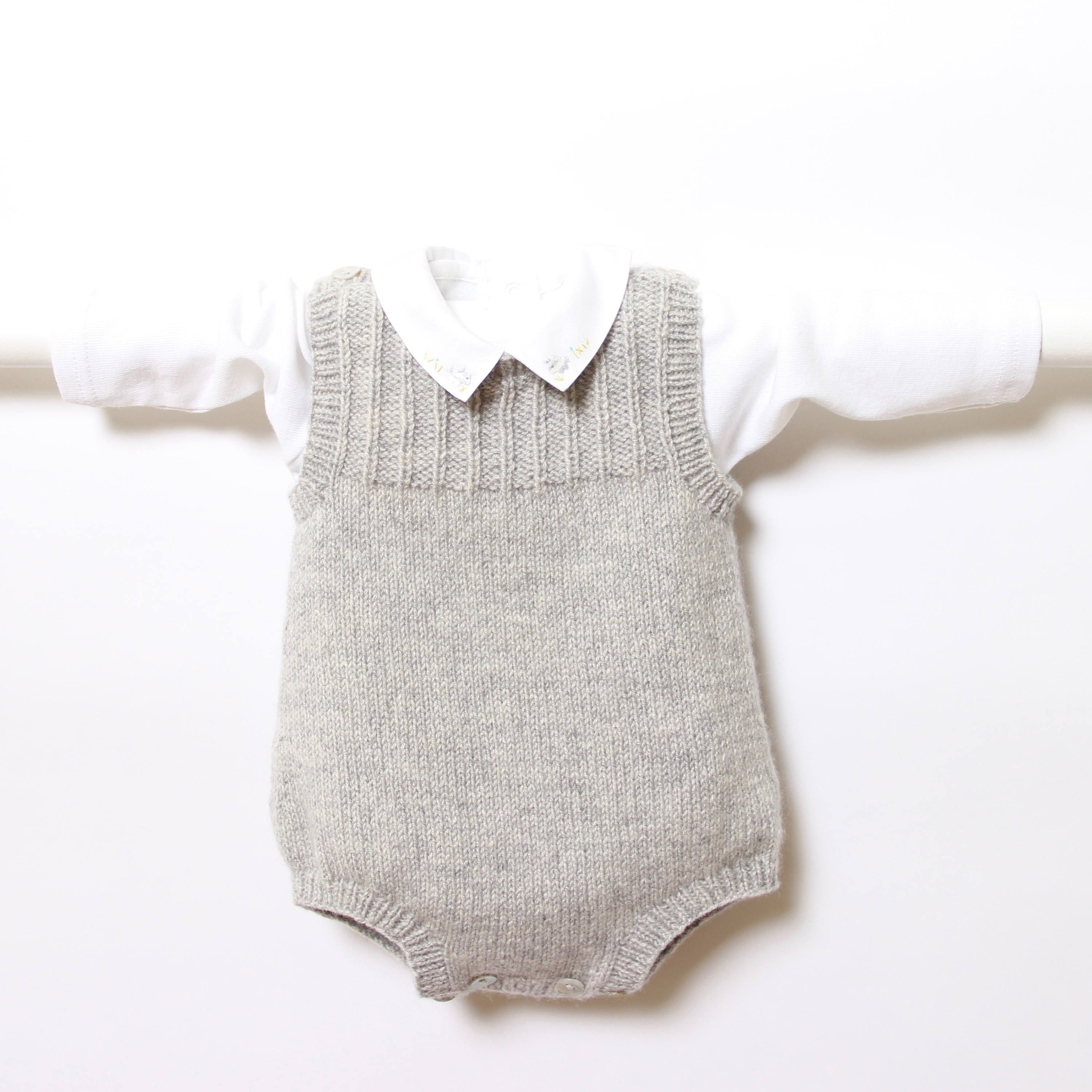 a68bf8c47 knit Baby Romper Onesie Pattern Instructions in French PDF Instant ...