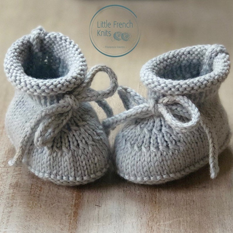 knitting Pattern Baby Booties Instructions in English Instant image 0