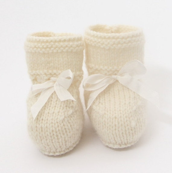 knitting Pattern Baby Booties Instructions in French Instant Digital Download PDF Sizes Newborn to 12 months
