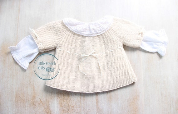 Baby Knitting Pattern Cardigan Sweater Wool English Instructions PDF Sizes newborn to 18 months