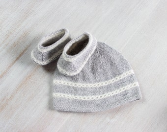 Baby Set / 2 Patterns / Knitting Pattern Instructions in French / PDF Instant Download