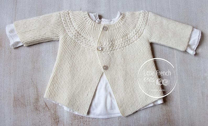 a8fa1844fdaa Knitting Pattern Baby Cardigan Sweater Princess Charlotte