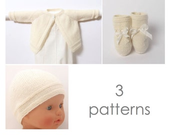 Knitting Patterns Baby Set English instructions PDF Instant download