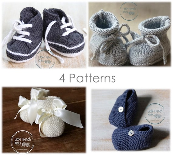 Knitting Patterns Baby Booties Shoes Instructions in English Instant Digital Download PDF