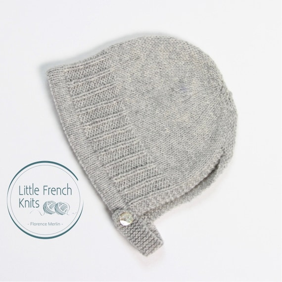 Baby Knitting Pattern Bonnet Hat Wool French Instructions PDF Sizes newborn to 24 months