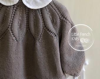Knitting Pattern Baby Wool Cardigan Instructions in English PDF Sizes Newborn to 24 months