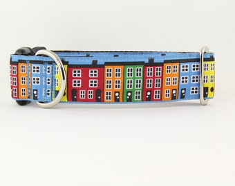 Rowhouse (Blue) Dog and Cat Collar