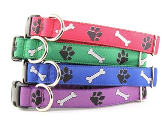 The Paws and Bones Classic Dog Collar