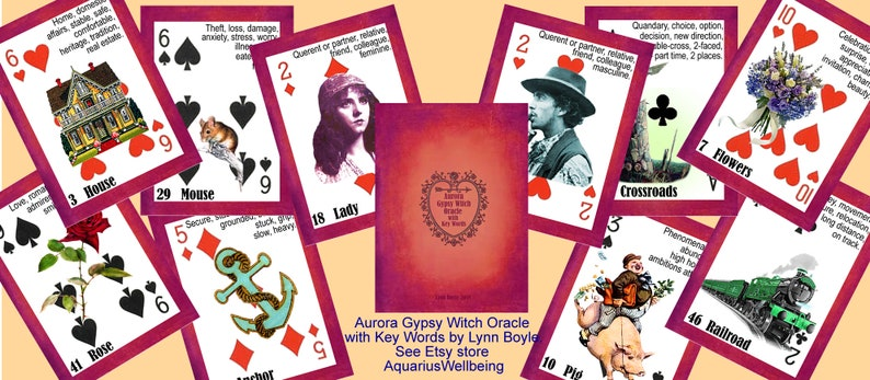 Aurora Gypsy Witch Fortune Telling Oracle Cards with Key Words by Lynn  Boyle  Brand New  Self Published
