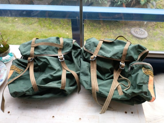 Vintage Karrimor Cycling Pannier Bags