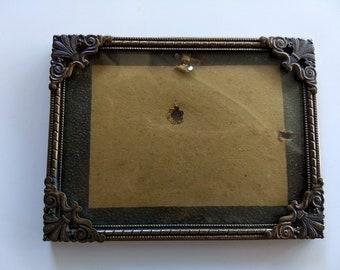 Little Antique Picture Frame, Bronze, Baroque