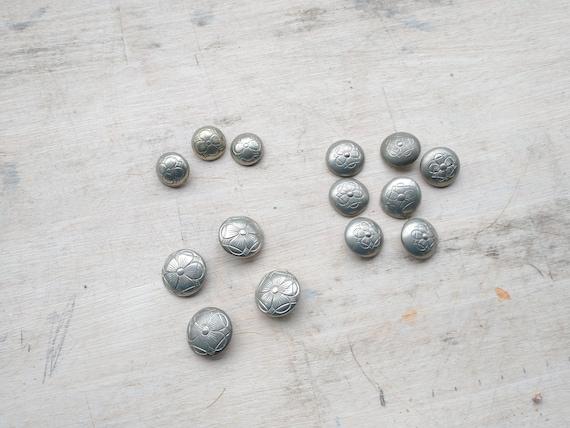 Norwegian Folk Pewter Buttons