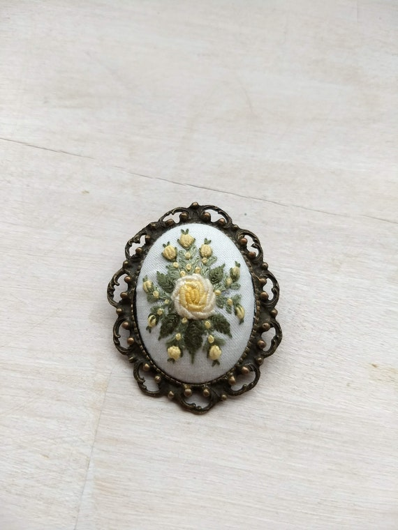 Beautiful embroidery brooch