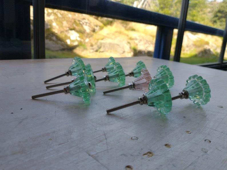 Lovely Vintage Pressed Glass Knob