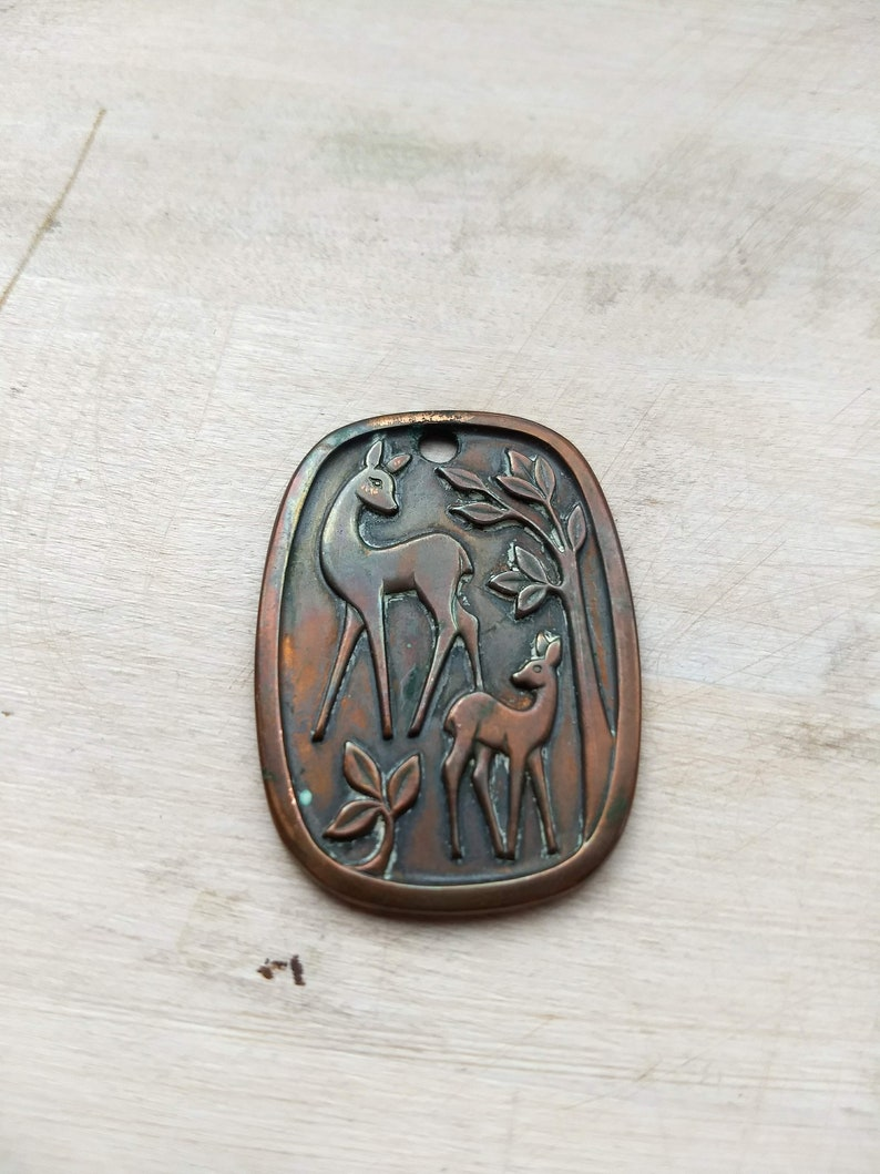 Norwegian Vintage Copper Pendant