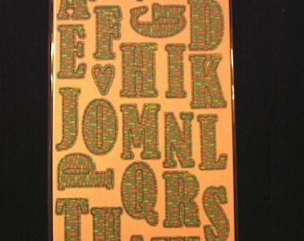 Heidi Grace Designs-Beyond the Sea-Printed Alphas Chipboard-60 Pcs-Brand New