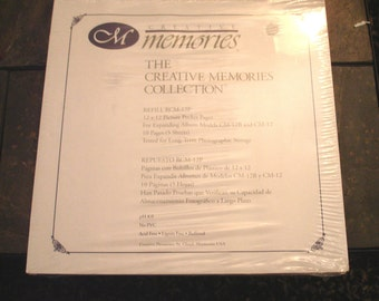 Creative Memories-12 x 12 Picture Pocket Pages-5 Sheets- Brand New