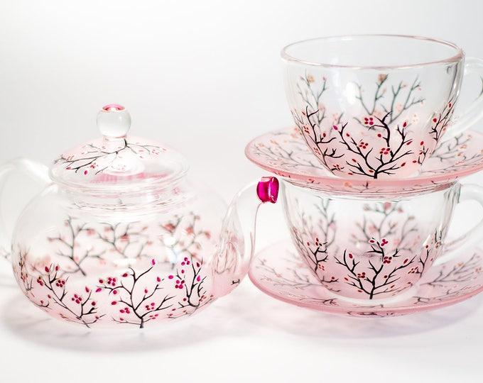 Teapot Set Cups Saucers