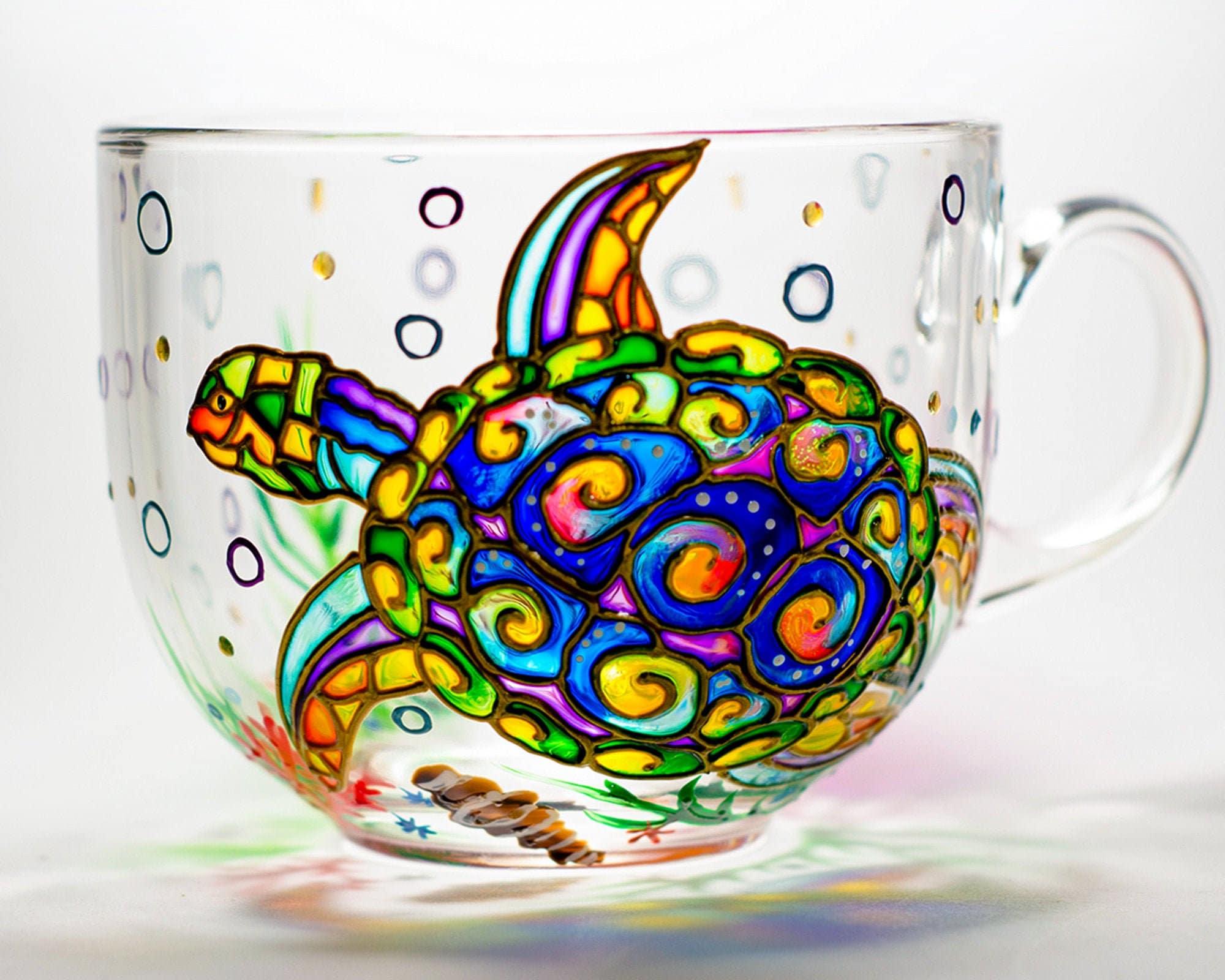 Christmas Gift Birthday Custom Text Coffee Cups Turtle   Mug  Ceramic Mugs