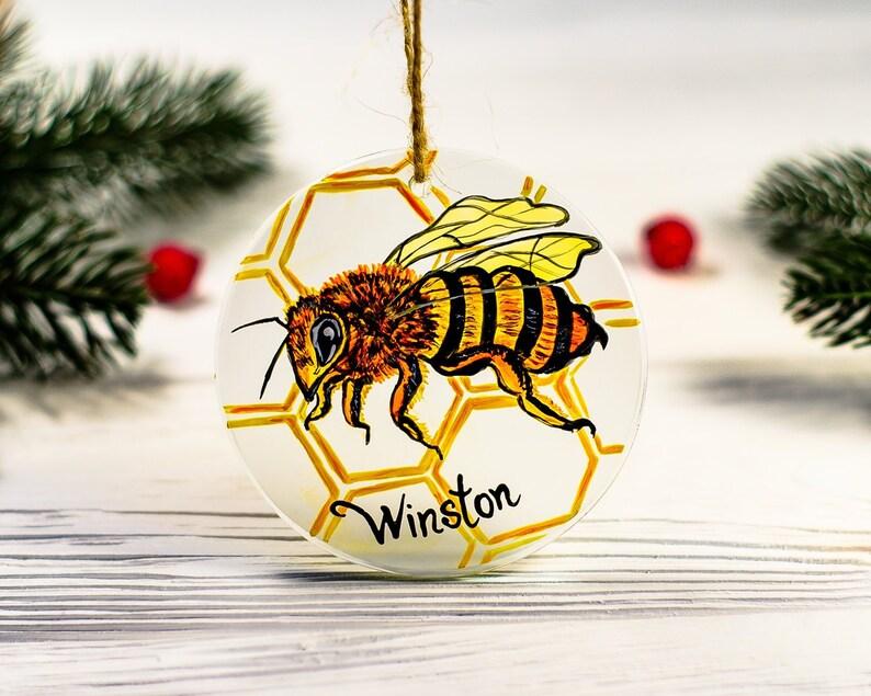 Custom Hand Painted Bee Ornament Christmas Keepsake Etsy