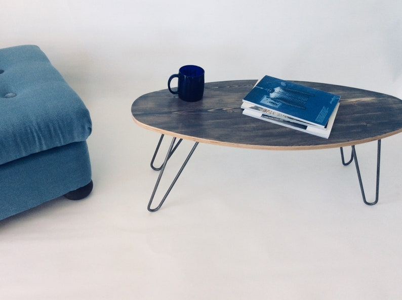 Hairpin leg table top- grey table top - TV stand - surf style table top