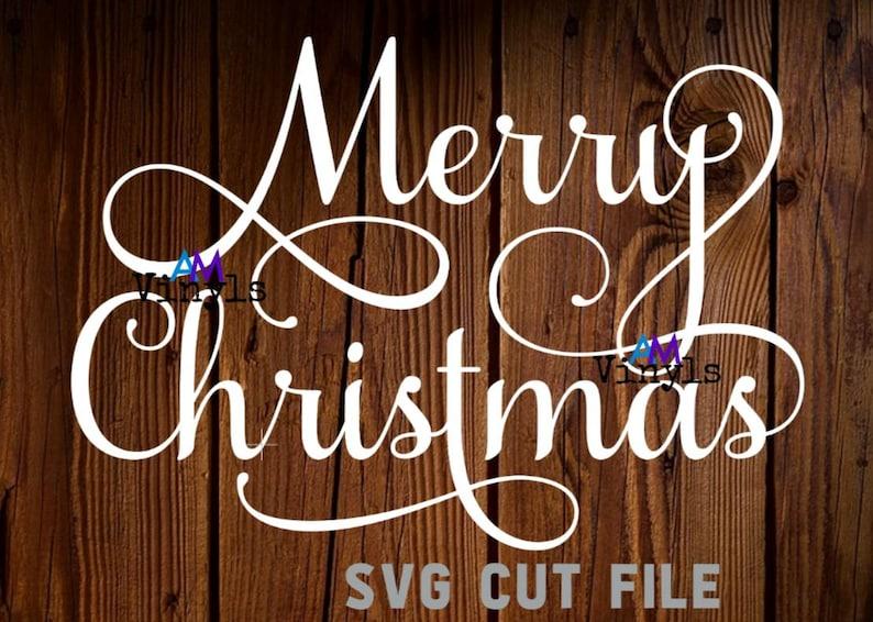Happy Holidays  |Holiday Christmas| Cut File SVG Samantha Script Elegant Cricut Cutter Season/'s Greetings 3pc Bundle Merry Christmas