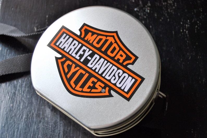 HARLEY DAVIDSON Tin Box on Strap Storage Box by Harley Davidson